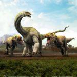 Giganatosaurus hunting down an Antarctosaurus
