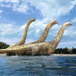 Paralititan take to water to avoid a predator
