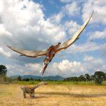 Quetzalcoatlsu bearing down on a juvenile Sauropod
